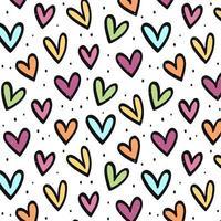 seamless pattern di cuori colorati vettore