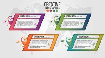 design moderno modello di infografica timeline