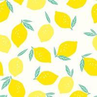 modello senza saldatura con limoni vettore