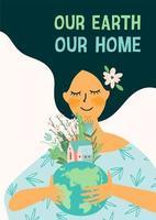 poster della giornata della terra o di un altro concetto ambientale vettore