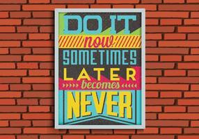 Vettore del manifesto di procrastinazione