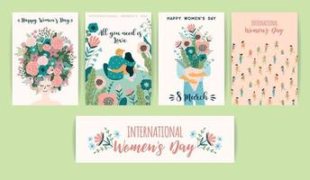 biglietti per la giornata internazionale della donna vettore