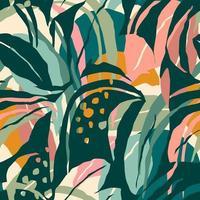 seamless artistico con foglie astratte