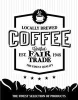 vettore di logo del chicco di caffè