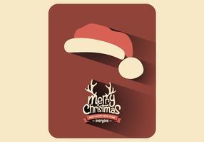 Vettore della cartolina di Natale del cappello di Santa