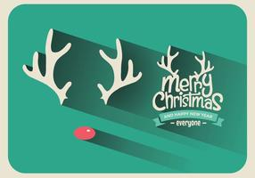 vettore del segno di natale di Rudolph