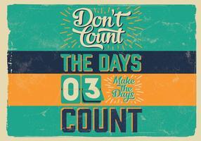 Non contare il vettore di giorni
