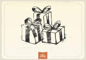 Vettore di schizzo dei regali di Natale