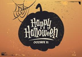 Vettore felice dell'ombra della zucca di Halloween