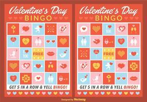 carte di bingo di San Valentino vettoriale