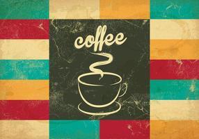 Vettore piastrellato del caffè