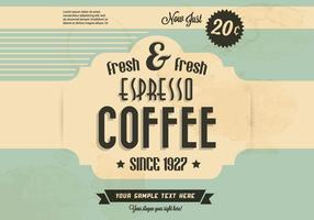Vettore di caffè fresco e fresco