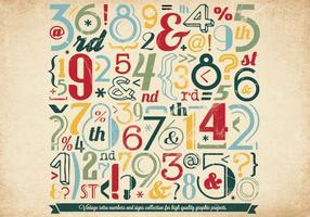 Vettore di raccolta colorato numero