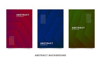 set di carte papercut geometrico astratto vettore
