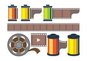 icone della scatola metallica del film vettore