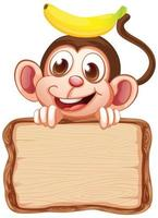 modello di scheda con scimmia carina