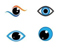 set di simboli occhio vettore