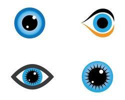 disegni di simboli degli occhi vettore