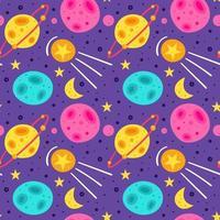 sfondo seamless pattern carino galassia vettore