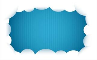 cornice nuvola su sfondo blu a strisce vettore