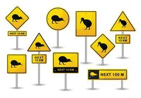 Kiwi Bird Vector gratuito