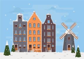 Natale Paesi Bassi vettoriale