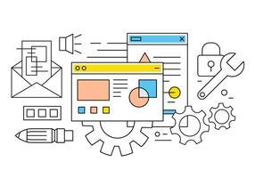 Icone gratis di computer e web vettore