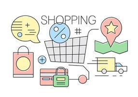 Icone dello shopping gratis vettore
