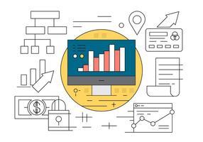 Set di icone di affari e finanza vettore