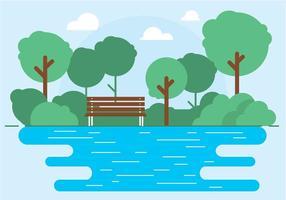 Illustrazione di parco all'aperto vettoriale gratuito