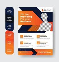 modello di business geometrico arancione e nero