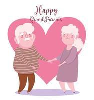 felice giorno dei nonni, carina coppia di anziani