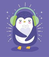 paraorecchie pinguino inverno vettore