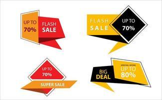 set di etichette ed etichette di vendita geometriche
