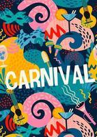disegno astratto colorato per la festa di carnevale vettore