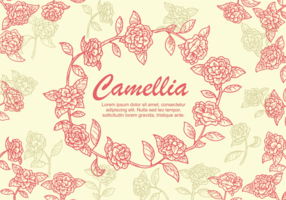Illustrazione di fiore di camelia
