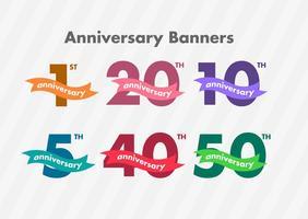 Bandiere di vettore di anniversario