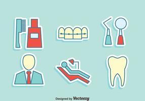 Vettore delle icone dell'elemento del dentista