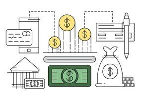Icone finanziarie lineari