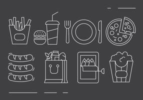 Icone di cibo gratis vettore