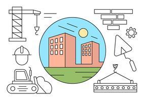 Icone di costruzione gratis vettore