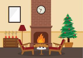 Vettore libero della decorazione della casa dell'albero di Natale di Sapin