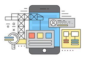 Illustrazione vettoriale di applicazione mobile