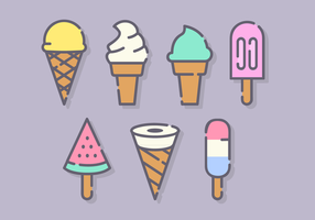 Vettore di gelato minimalista gratuito