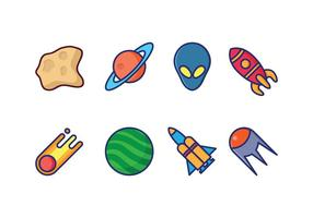 Icone dello spazio vettore