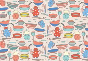 vettore colorato del modello di cocina