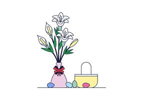 Vettore di Pasqua Lilly gratis