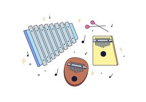 Marimba Vector gratuito