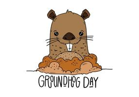 Illustrazione di Groundhog Day vettore