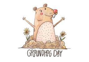 Illustrazione di Groundhog Day vettore